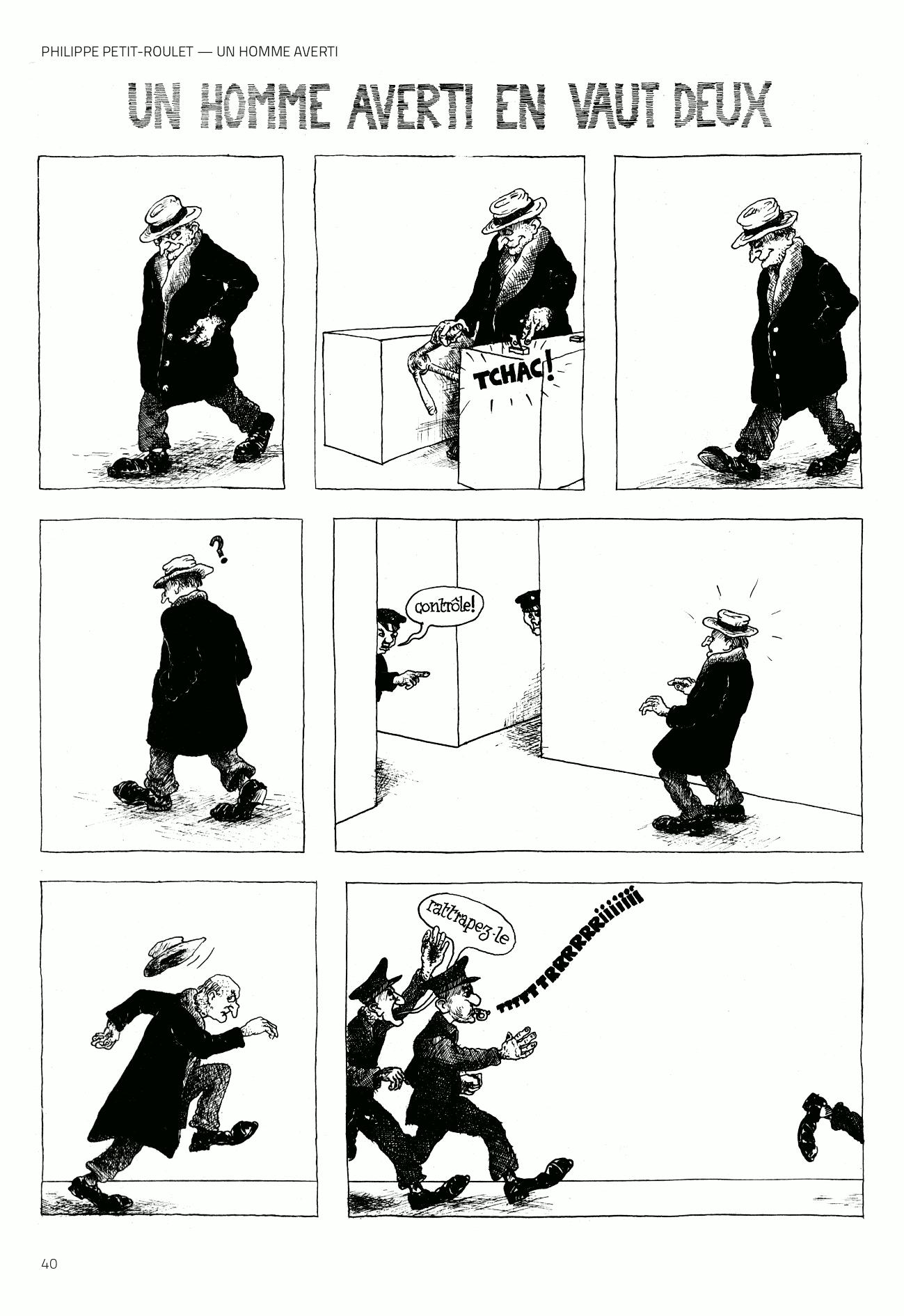 Petit-Roulet – Un homme averti