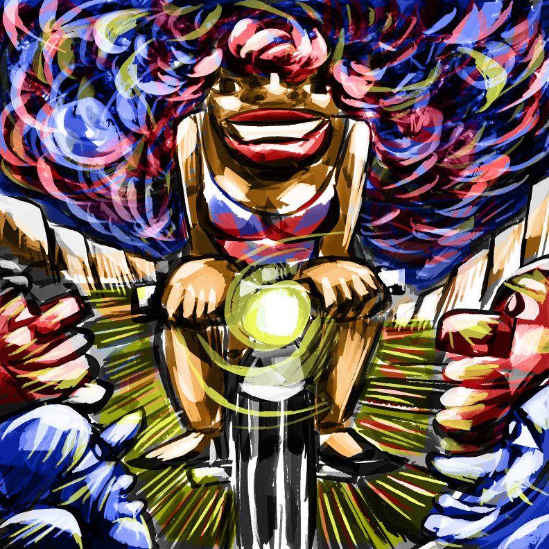 """Illustration de Xavier Dole pour la chanson """"Apoline"""""""