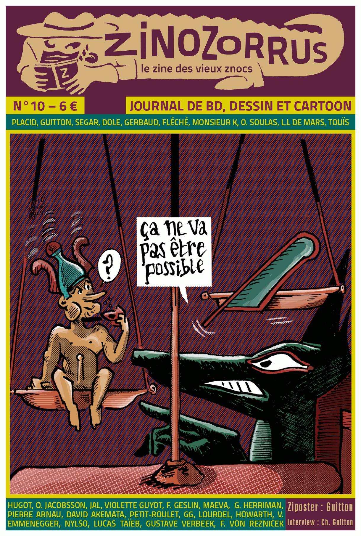 Zinozorrus 10 – couverture de Philippe Gerbaud